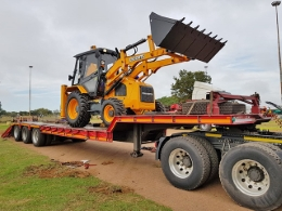 Escorts TLB backhoe delivery